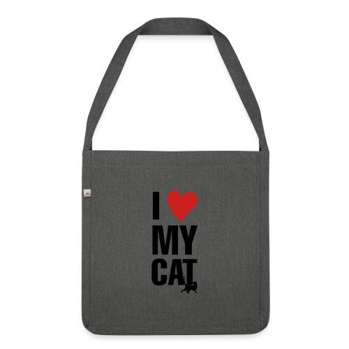 I_LOVE_MY_CAT-png - Bandolera de material reciclado