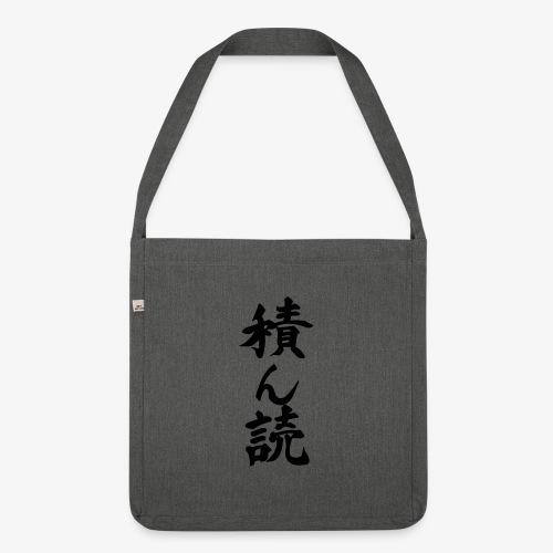 Tsundoku Kalligrafie - Schultertasche aus Recycling-Material