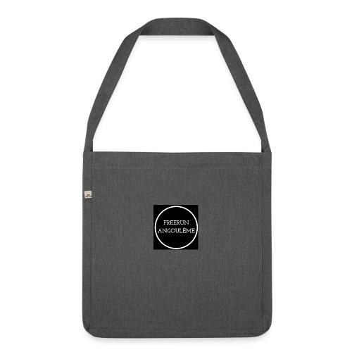 Freerun Angouleme noir logo - Sac bandoulière 100 % recyclé
