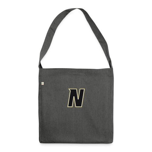 Nordic Steel Black N - Shoulder Bag made from recycled material