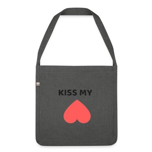 Kiss My Ass - Torba na ramię z materiału recyklingowego