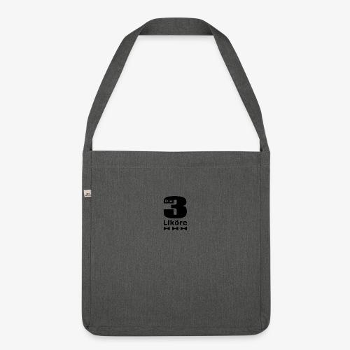 Die 3 Liköre - logo schwarz - Schultertasche aus Recycling-Material