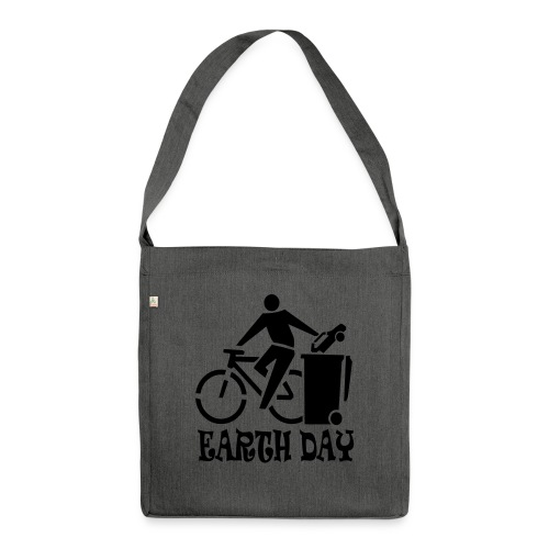 Eartth Day - Schultertasche aus Recycling-Material