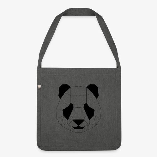 Panda schwarz - Schultertasche aus Recycling-Material