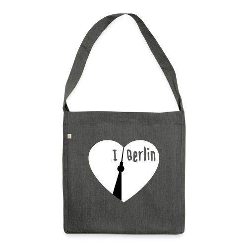 I love Berlin (2-farbig) - Schultertasche aus Recycling-Material