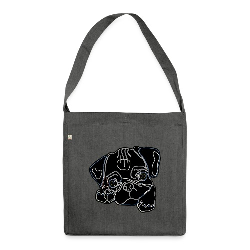 Pug Face - Shoulder Bag made from recycled material