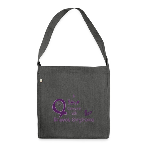 i love someone with dravetsyndrom - Schultertasche aus Recycling-Material
