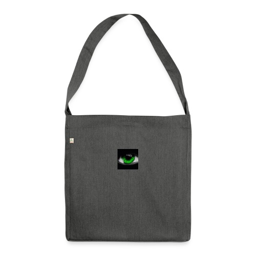 Green eye - Shoulder Bag made from recycled material
