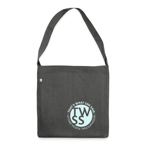 TWSS logo - That's What She Said - International - Schultertasche aus Recycling-Material