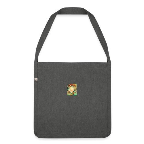 Flower - Schultertasche aus Recycling-Material