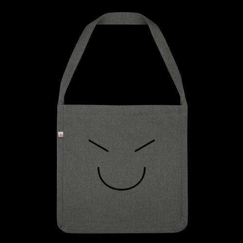 Gute Laune Schwarz - Schultertasche aus Recycling-Material