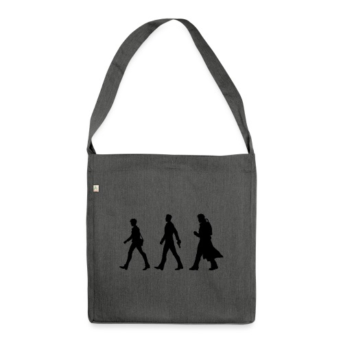 Black Title and Character design - Shoulder Bag made from recycled material