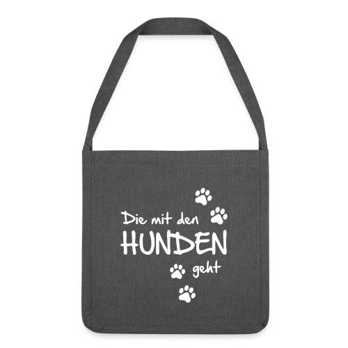 Vorschau: Die mit den Hunden geht - Schultertasche aus Recycling-Material