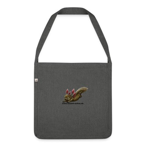 Axolotlshirt Männlein 1.png - Schultertasche aus Recycling-Material