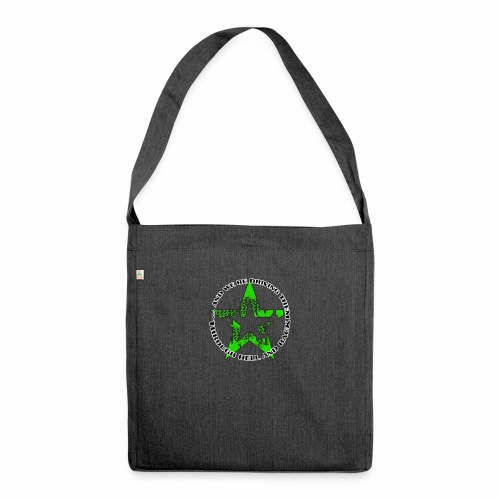 ra star slogan slime png - Schultertasche aus Recycling-Material