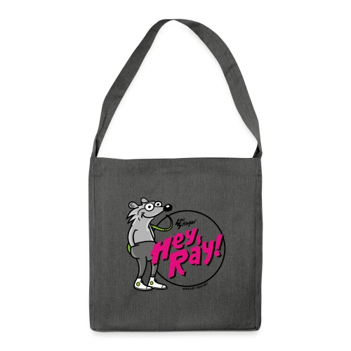 Hey Ray! Logo magenta - Schultertasche aus Recycling-Material