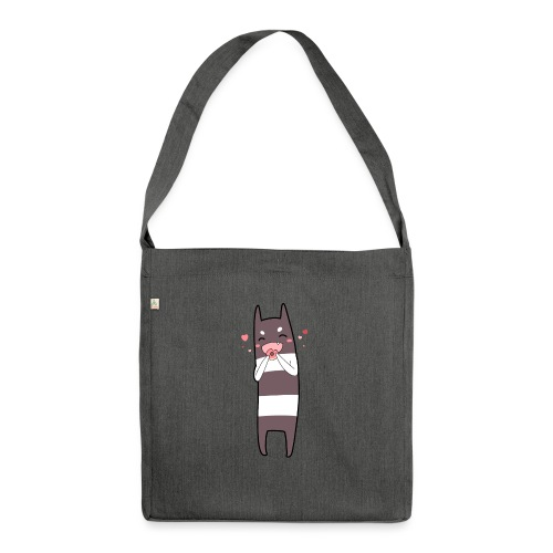 Donut Monster - Shoulder Bag made from recycled material
