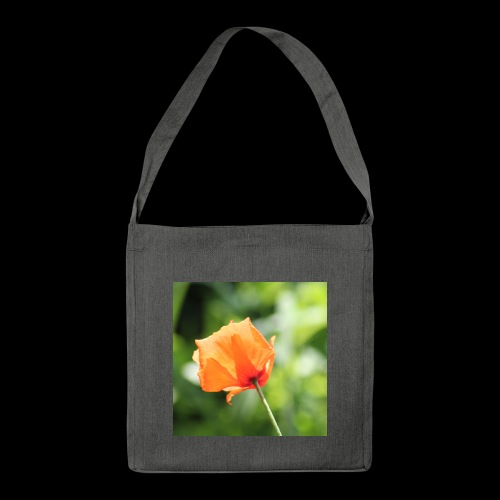 Poppy Flower - Shoulder Bag made from recycled material
