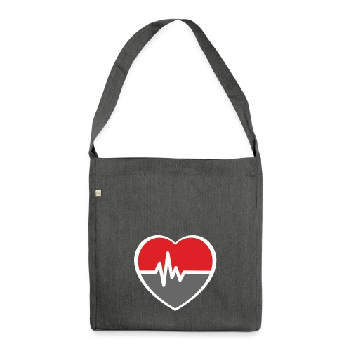 RaveHeart - Flowjob - Shoulder Bag made from recycled material