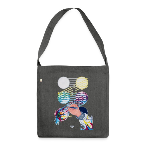 CMYK Mix and flow - Shoulder Bag made from recycled material