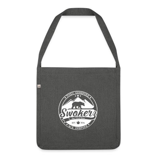 SWOKERZ Logo Blanc - Sac bandoulière 100 % recyclé