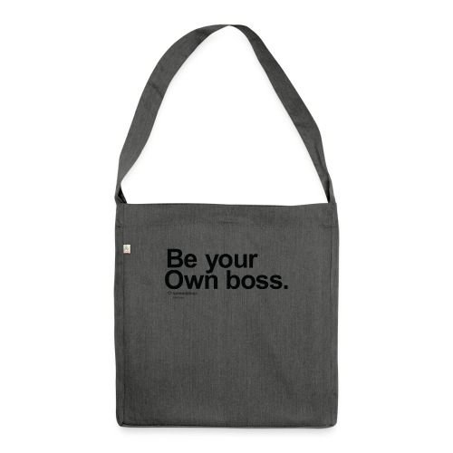 Boss in black - Shoulder Bag made from recycled material