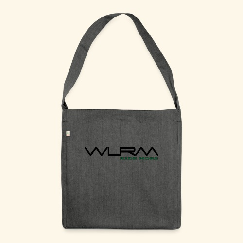 WLRM Schriftzug black png - Schultertasche aus Recycling-Material