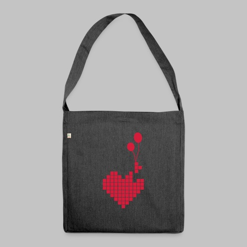 heart and balloons - Shoulder Bag made from recycled material