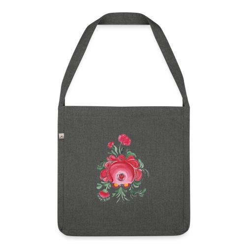 Ostfriesische Rose - Schultertasche aus Recycling-Material