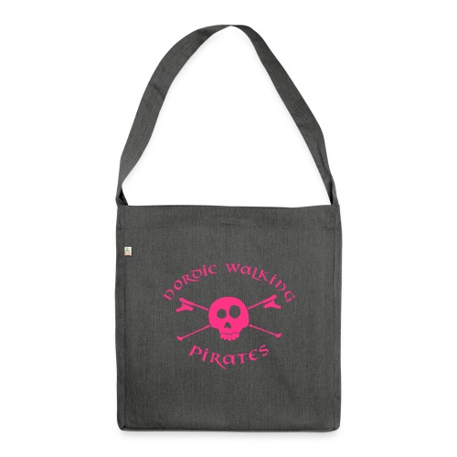 Nordic Walking Pirates (white) - Schultertasche aus Recycling-Material