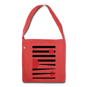 Stripes Passion Red - Schultertasche aus Recycling-Material