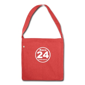 Race24 round logo white - Shoulder Bag made from recycled material
