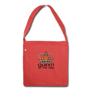 Queen of the day - Schultertasche aus Recycling-Material