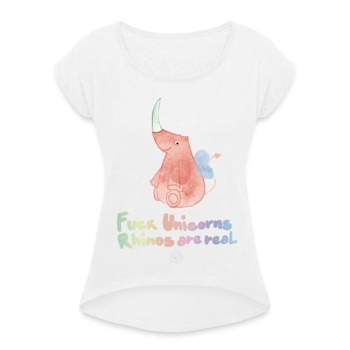 F*** Unicorns - Maglietta da donna con risvolti