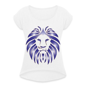 Lion Hunter - Women's T-shirt with rolled up sleeves
