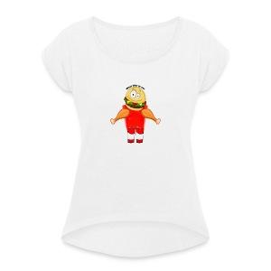 Je Bent Wat Je Eet - Vrouwen T-shirt met opgerolde mouwen