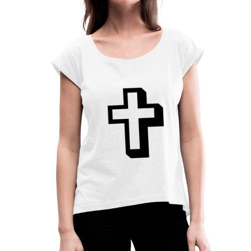 Criz cristiana - Camiseta con manga enrollada mujer