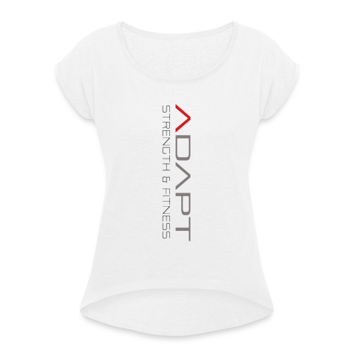 whitetee - Women's T-Shirt with rolled up sleeves