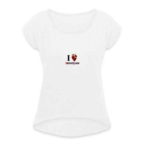 I love Butterflyland - T-shirt à manches retroussées Femme
