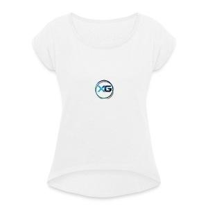 XG T-shirt - Vrouwen T-shirt met opgerolde mouwen