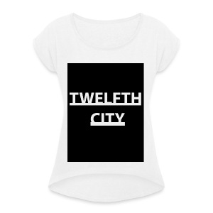 Twelfth City Black - Women's T-shirt with rolled up sleeves