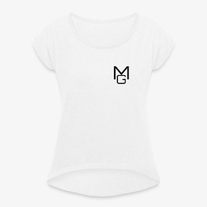 MG Clothing - Women's T-shirt with rolled up sleeves