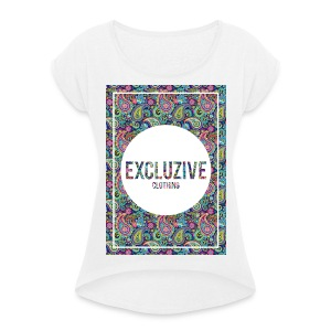Colour_Design Excluzive - Women's T-shirt with rolled up sleeves