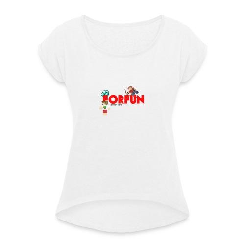 T-shirt Server ForFUn - Maglietta da donna con risvolti