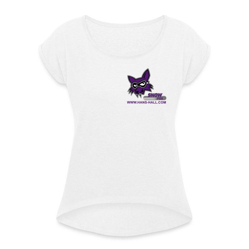 SnowFox - Frauen T-Shirt mit gerollten Ärmeln