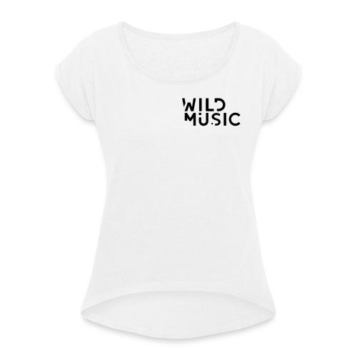 Wild Music Logo - Camiseta con manga enrollada mujer