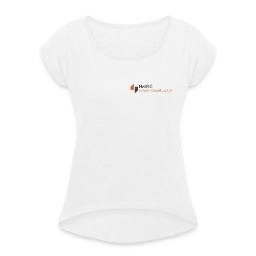 HMFIC Security Consulting Logo - Frauen T-Shirt mit gerollten Ärmeln