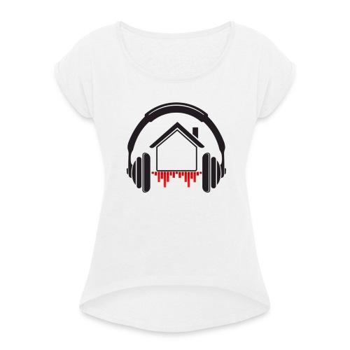 mix at home Logo - T-shirt à manches retroussées Femme