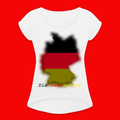 Die Mannschaft - Frauen T-Shirt mit gerollten Ärmeln