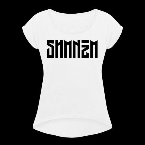 SHMNzM Basic - Maglietta da donna con risvolti